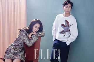 女優ソン・ジヒョ、俳優イ・ソンギュン、画報公開。雑誌「ELLE」。韓国版「今週、妻が浮気します」で共演。