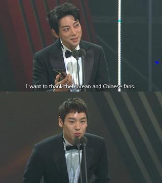歌手部門ファン・チヨル、俳優部門クァク・シヤン&イ・ジョンシン(CNBLUE)、「2016 Asia Artist Awards」ことしを揺るがしたニューウェーブ賞受賞。 (1枚)