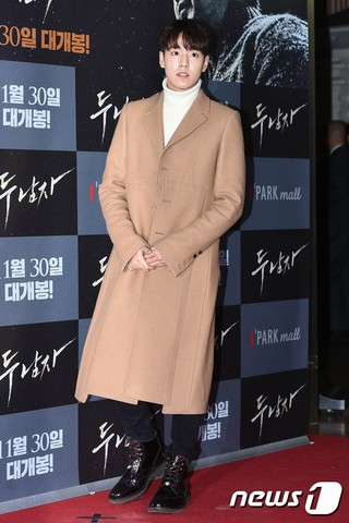 俳優イ・ヒョヌ、映画「2人の男」VIP試写会に出席。@ソウル・龍山(ヨンサン)CGV