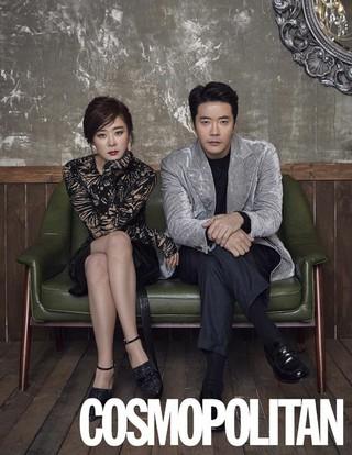 俳優クォン・サンウ &女優チェ・ガンヒ、画報公開。雑誌「COSMOPOLITAN」2月号。