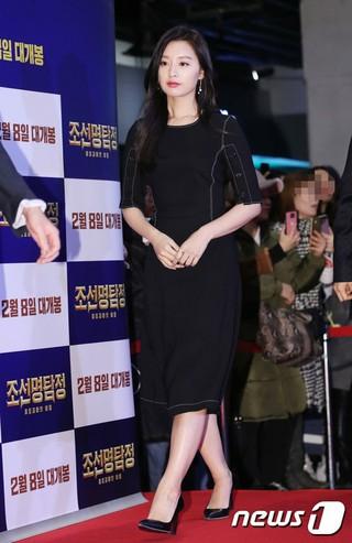 女優キム・ジウォン、映画「朝鮮名探偵:吸血怪魔の秘密」VIP試写会に出席。ソウル・COEXメガボックス。