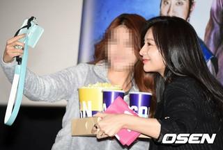 女優キム・ジウォン、試写会に参加中。映画「朝鮮名探偵:吸血怪魔の秘密」の事前試写会。