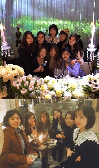 女優ミン・ヒョリンと映画「Sunny」(サニー 永遠の仲間たち)で共演した女優が大集合。BIGBANG SOL&ミン・リョリンの結婚式。カン・ソラ、チョン・ウヒ、パク・チンジュ、キ