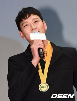 俳優カン・ドンウォン、映画「ゴールデンスランバー」トークコンサート試写会に出席。ソウル・成均館大学ニューミレニアムホール。