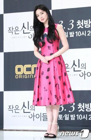 女優イ・エリヤ、OCNドラマ「小さな神の子どもたち」制作発表会に出席。