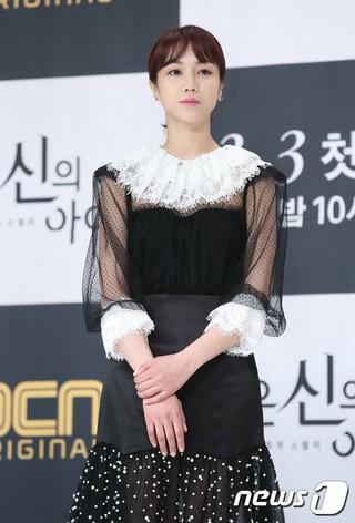 女優キム・オクビン、OCNドラマ「小さな神の子どもたち」制作発表会に出席。