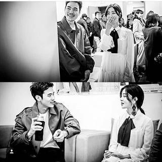 【i公式】SECRET 出身 ハン・ソナ、俳優キム・ガンウ、チョン・サンフンとのツーショット写真を公開。