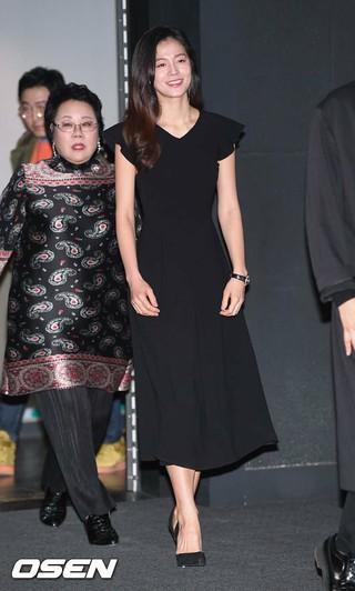 女優キム・ソンウン、映画「ママのノート」マスコミ試写会に参加。ソウル、龍山CGV。