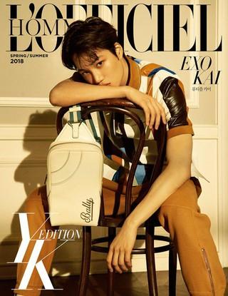 EXO KAI、ファッション&ライフスタイルマガジン特別版「LOFFCIEL HOMME YK EDITION」2018春・夏号の表紙に。