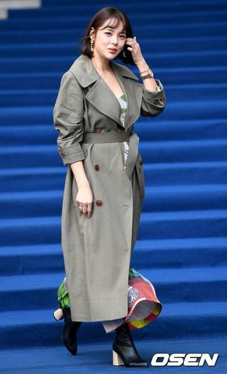 女優パク・シヨン、ソウル市内・東大門DDPで開かれた2018 F/Wソウルファッションウィーク・MISS GEE COLLECTIONに参加。