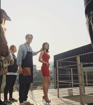 「ボクサー女優」イ・シヨン、出産後3か月の撮影現場を公開。●「お腹空いた!」●昨年結婚、今年1月に息子を出産