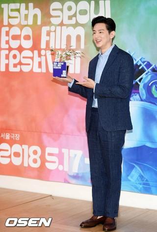 俳優クォン・ユル、ソウル市内で開かれた「第15回ソウル環境映画祭」公式記者会見に出席。