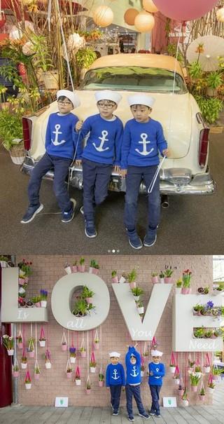 俳優ソン・イルグク、三つ子の息子たちの近況を公開。