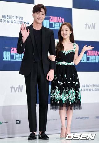 俳優イ・テファン、tvN新ドラマ「キム秘書がなぜそうか?」制作発表会に出席。30日午後、TIMES SQUAREアモリスホール。