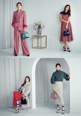 """女優キム・ヒソン、画報公開。スタイル朝鮮6月号。""""Twin Look""""をコンセプトに。"""