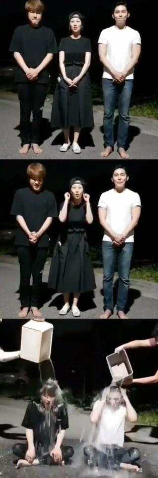 歌手チャン・ユンジョン、アイス・バケツ・チャレンジに参加する後輩2人を応援。「私は妊娠中だから、次の機会に」。