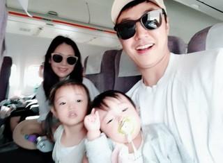俳優ユン・サンヒョン -歌手MayBee 夫妻、2人の娘と一緒に済州島旅行。MayBeeは第3子も妊娠中。