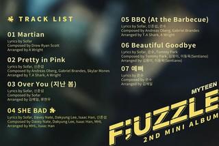 MYTEEN、2ndミニアルバム「F&#59;UZZLE」のトラックリストを公開。タイトル曲は「SHE BAD」。7月10日に発売。