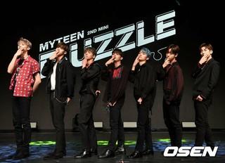 MYTEEN、ソウル市内で2ndミニアルバム「F&#59;UZZLE」のショーケースを開催。