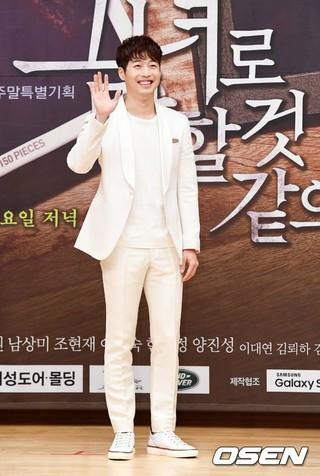 俳優キム・ジェウォン、SBS新週末特別企画「彼女はといえば」制作発表会に出席。13日午後、ソウル・木洞SBS。