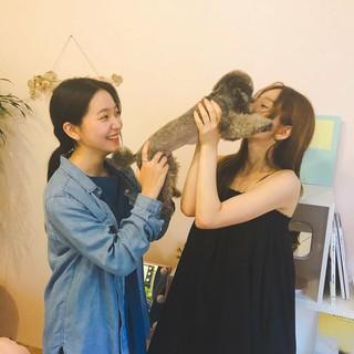 【g公式】少女時代_テヨンの伴侶犬「ゼロ」、Red Velvet イェリにはガードが堅い。。