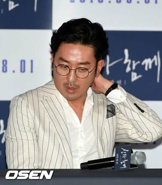 俳優ハ・ジョンウ、映画「神と共に2」のメディア試写会に出席。
