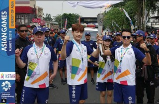 SE7EN、アジア大会2018ジャカルタの聖火リレーに参加。韓流スター初。