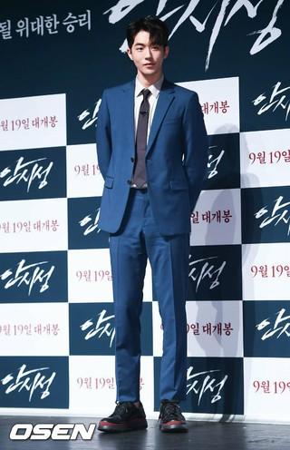 俳優ナム・ジュヒョク、映画「安市城」制作報告会に出席。