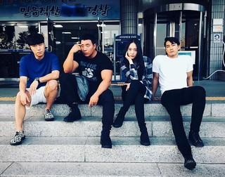 【G公式】俳優ソン・スンホン、 OCN新ドラマ「プレーヤー」共演のイ・シオン &テ・ウォンソク&amp&#59; f(x) クリスタル との写真を公開。