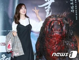 女優チン・セヨン、映画「物の怪」VIP試写会に出席。ソウル・ロッテシネマ ワールドタワー。