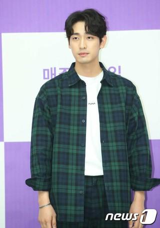 俳優ユン・パク、「KBSドラマスペシャル2018‐マグロとイルカ」制作発表会に出席。