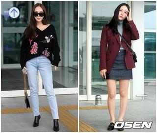ジェシカ f(x) クリスタル姉妹、ファッションウィーク参加のためミラノへ出国。21日午後、仁川国際空港。
