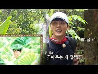 【動画】【公式sbe】 俳優ユン・シユン 、映画のように葉の傘差す可愛さ+1_「キム・ビョンマンのジャングルの法則」333回20180921