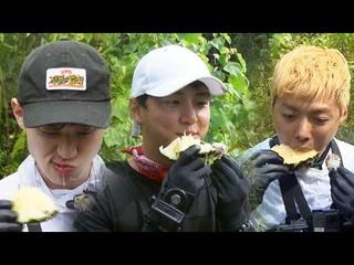 【動画】【公式sbe】 ユン・シユン 、チャン・ドンユン、KangNamのパイナップルASMR... 「キム・ビョンマンのジャングルの法則」333回20180921