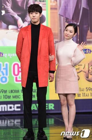 俳優アン・ヒョソプ、キム・スルギ、MBCミニドラマ「3つの色ファンタジー」制作発表会。2人は「指輪の女王」に出演。 (3枚)