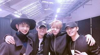 防弾少年団 BTS Vへの激励訪問。「WINGS TOUR in Seoul」会場、SHINee ミンホ、俳優ト・ジハン など。