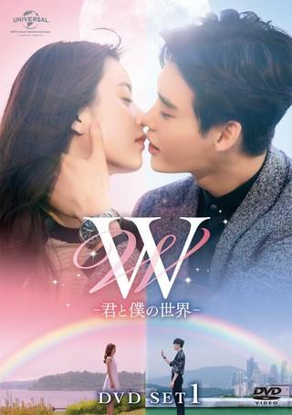 俳優イ・ジョンソク、女優ハン・ヒョジュ主演の大ヒットドラマ「W-2つの世界」。日本での題名は「W-君と僕の世界-」。DVD、5/2より発売。 (1枚)