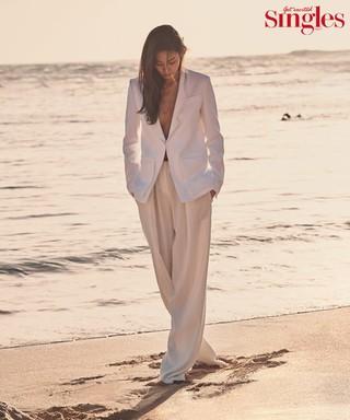 女優スヒョン、画報公開。ファッション誌「Singles」。