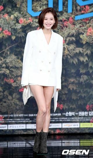 RAINBOW 出身キム・ジェギョン、MBCの新月火ドラマ「バッドパパ」の制作発表会に出席。28日午後、ソウル・MBC上岩(サンアム)新社屋。