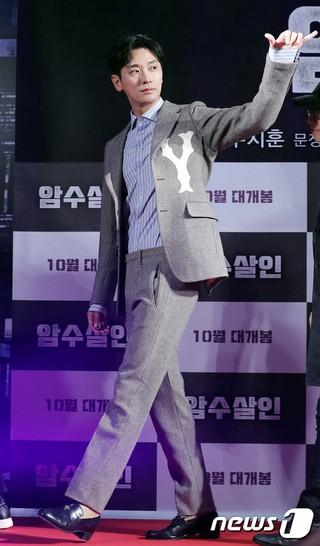 俳優チュ・ジフン、映画「暗数殺人」オープンショーケースに出席。ソウル・ロッテシネマワールドタワー。