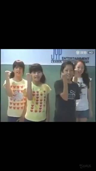 幼少期にJYPのオーディションを受けていたアイドルグループメンバー。左からLABOUM ソルビン、一般人、宇宙少女 エクシ、SONAMOO ウィジン。