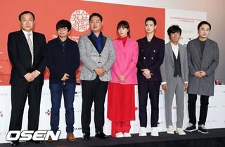 第23回釜山国際映画祭・開幕作品「ビューティフルデイズ」記者会見。女優イ・ナヨン、俳優イ・ユジュン、チャン・ドンユン らが出席。