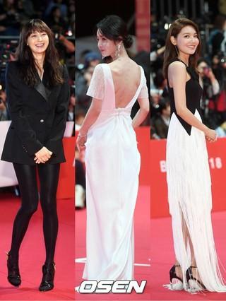 女優イ・ナヨン、ナム・ギュリ、少女時代 スヨン、釜山国際映画祭レッドカーペットでのドレス姿に視線集中。4日午後、釜山。