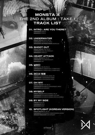 MONSTA X、THE 2ND ALBUM:TAKE.1 トラックリスト公開。タイトル曲は「SHOOT OUT」。