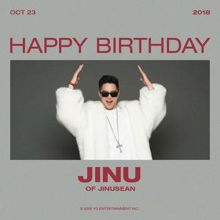 【g公式yg】ジヌション、JINUの誕生日を祝う。