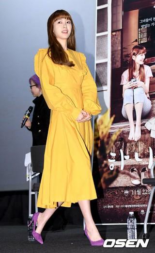 SHINHWA エリックの妻で女優のナ・ヘミ、映画「ハナ食堂」のマスコミ試写会に出席。14日午後、ソウルCGV龍山アイパークモール。