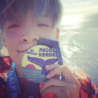【g公式】f(x)_Amber、初のハーフマラソンに参加。 ●Another milestone for the llama��on to the next race !.