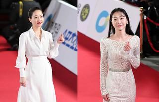 【w公式】女優パク・ボヨン ら、出席の「2018青龍映画賞」レッドカーペットの様子を公開。