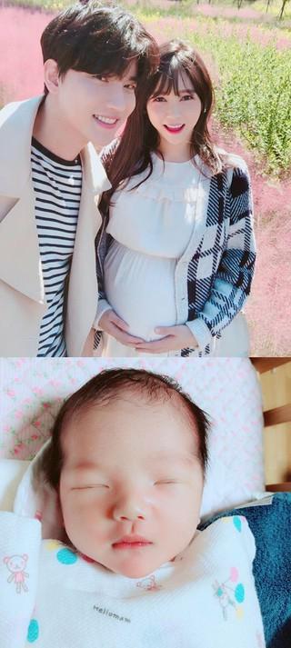 歌手ノ・ジフン 元レースクイーンのイ・ウンヘ夫妻に第一子男児が誕生。11月25日に出産。