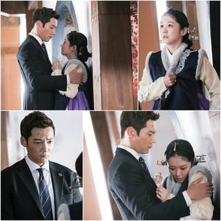 女優チャン・ナラ 俳優チェ・ジンヒョク、ドラマ「皇后の品格」スチールカット。
